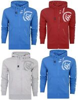 Crosshatch Mens Full Zip Fashion Hoodie Borg Lined Hood Jacket Sweatshirt Top