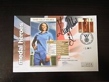 KELLY HOLMES - OLYMPIC GOLD MEDAL WINNER - SIGNED MEDAL HEROES  F.D.C.