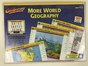 GeoSafari More World Geography Electronic Learning Game Pack 20 Game Card 1989