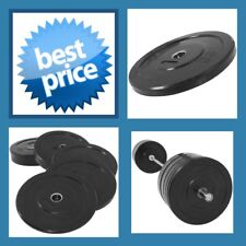 BLACK 10KG A-GRADE CLUB Series Olympic  Size  RUBBER BUMPER  GYM WEIGHT PLATE