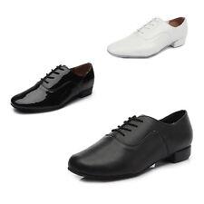 Adult men children boy ballroom latin salsa tango dance shoes heeled black white
