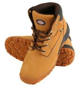 Safety Boots, Dickies FD9207, Nubuck, Tan, Honey, Leather, Graton Steel Toe Cap