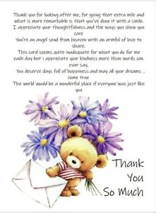 Thank You So Much - A5 Card Friendship Thanks Thoughtfulness Kindness Thank You