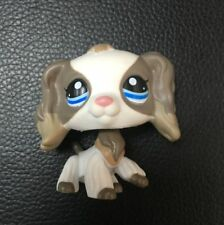 LITTLEST PET SHOP Cocker spaniel dog white grey blue eyes LPS#2254