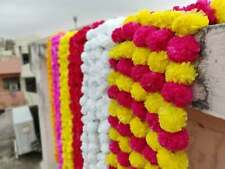Artificial Marigold Flower decor Garlands Vine Wedding Indian Event Decoration