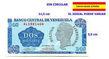 BILLETES DE VENEZUELA 2 Bs. BOLÍVARES BOLÍVAR NUEVO FUERA DE CIRCULACIÓN RARO