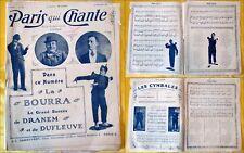 Paris qui Chante - 1911 - N°441 - La BOURRA (Dranem et Dufleuve)