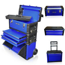 316 US Pro Tools Blue Mobile Roller Brust Trolley Wagen Schrank 3 in 1 Tool Box