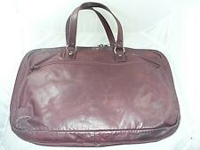 VINTAGE LONGCHAMP LEATHER TRAVEL BAG BURGUNDY