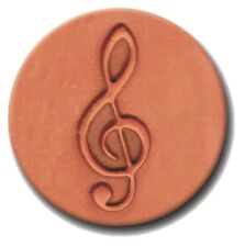 "RYCRAFT 2"" Round Cookie Stamp with Handle & Recipe Booklet--TREBLE CLEF"