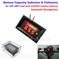 Lead Acid LiFePO4 Lithium Li-ion Battery BMS Capacity Indicator Tester Voltmeter