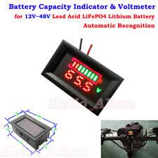 12V-48V Lead Acid LiFePO4 Lithium 18650 Battery Capacity Indicator Voltmeter