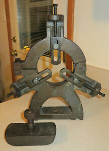 """USED South Bend 16"""" Lathe Steady Rest with Original Clamp Block"""
