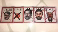 TIME Magazine RED X Collection RARE Adolf Hitler Japan World War II Saddam Osama