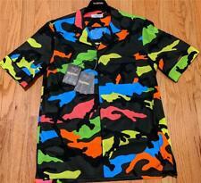 Hombre Valentino Coloridos Estampado Camuflaje Camisa 48 Ee. Uu. Pequeño
