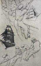 Carlo KRATTNER 1895-?.Souvenir de croisière.1935.Eau-forte.40x25.SBD.