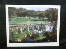 Larry Dyke Signed The Seventh At The Hills Of Lakeway Golf L/E Lithograph