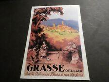 CPM REPRODUCTION ANCIENNE AFFICHE DE GRASSE, VF POSTCARD
