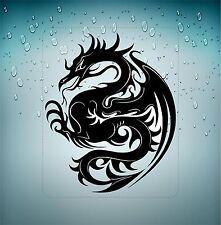 aufkleber sticker auto motorrad scooter chinesisch dragon tatowierung schwarz