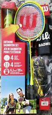 Wilson Outdoor Badminton Set 4 Rackets, Net , Shuttlecocks & Bag
