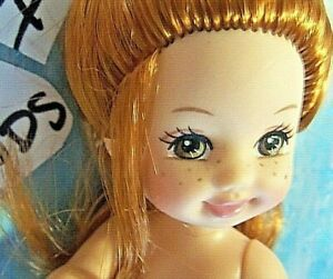 Kelly Doll Clothes *Naked Kelly Doll Red Hair/HAZEL Brown/LASHES/Freckles* 84-81