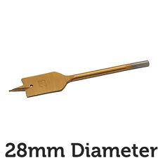 PRO 28 x 150mm Titanio Acciaio Rivestito Piatto / Spade Core Drill Bit Hex FORO CUTTER
