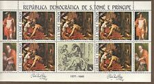 S.Tome & Principe 1983 EASTER Samson and Delilah by Rubens MNH MS SC # 693