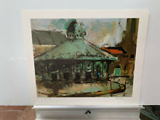 Thamm John F RARE HAND SIGNED & NUMBERED TRAIN STATION print 21x17 Never framed!