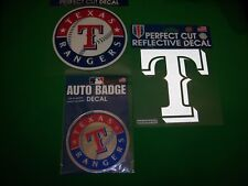 Texas Rangers Baseball Perfect Cut Decal, Reflective & Auto Badge Stickers Lot