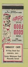 Matchbook Cover - Embassy Club Oshawa ON