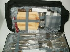 12-Piece Grilling Utensils Set and Zippered Ice Cooler Bag Nip