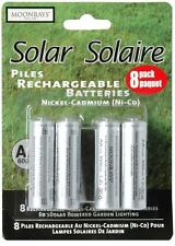 Moonrays 47740Sp 4 Pack Solar Batteries 600mAh Aa, Pack of 8 Batteries
