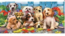 "Puppies Collage 30"" X 60"" Velour Towel"