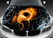Dark Eye Hood Full Color Graphics Wrap Decal Vinyl Sticker Fit any Car #015