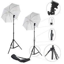 2x Kit Éclairage DynaSun W968 Trépied Douille Parapluie pour Flash Cobra Esclave