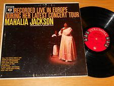 """MONO GOSPEL LP- MAHALIA JACKSON - COLUMBIA 1726 - """"RECORDED IN EUROPE"""""""