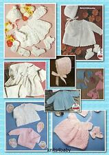 150+ Vintage PATTERNS ~ Wonderful Selection of BABY CROCHET & KNITTING GARMENTS.