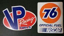 2 pcs VP RACING FUELS + UNION 76 OFFICIAL NASCAR FUEL RACING DECALS STICKER