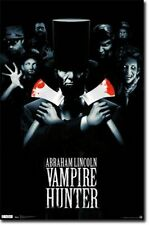 HORROR MOVIE POSTER Abraham Lincoln Vampire Hunter Movie Poster Double Axe