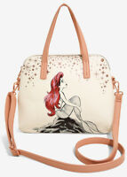 Disney Loungefly Ariel The Little Mermaid Rock Dome Satchel Crossbody Bag