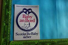Alter Aufkleber Babypflege -creme FISSAN Baby an Bord