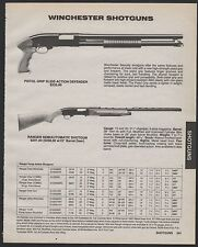 1989 WINCHESTER Pistol Grip  Defender and Ranger Semiautomatic Shotgun AD