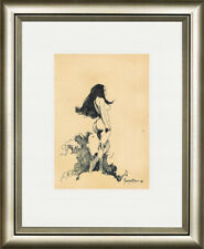 Frank Frazetta - PEN INK - HANDAMDE OLD ART !!!