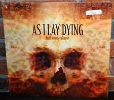 AS I LAY DYING - Frail Words Collapse, LTD BUTTER CREAM MARBLE VINYL LP NEW