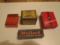 vintage ham radio electronics parts nos in boxes lot of 4 boxes & contents
