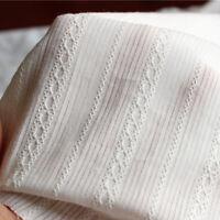 50x145cm Cotton Fabric Jacquard Doll Dress Lining Clothing Sewing White Craft