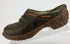 EL Naturalista Mules Slide Brown Leather Closed Toe Slip On Clogs Womens 40 US 9
