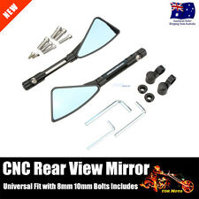 CNC Rearview Side Mirrors 4 Street Bike Sport Bike Scooter CRUISER M10 M8 Bolts