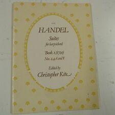 HANDEL Suites for HARPSICHORD Book 1 (1720) Nos 2,4,6 + 8, Ch. Kite