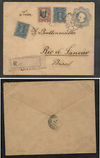 Chile  nice uprated postal envelope to  Brazil   1907         EX0418